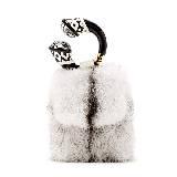 Tom Ford汤姆·福特2013秋冬系列海狸毛白色手拿包