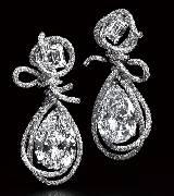 CINDY CHAO大师系列缎带系列白钻绳结耳环