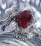 CINDY CHAO缎带系列红宝缎带戒指