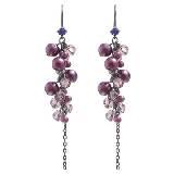 Evita Peroni 紫色珍珠长款耳环
