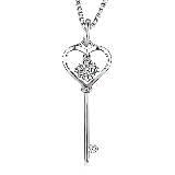 MaBelle玛贝尔心型钥匙项链