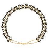 Evita Peroni 金色水晶发带