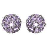 Evita Peroni 紫色亮钻耳环