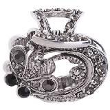 Evita Peroni 银色宝石时尚发夹