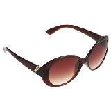 Evita Peroni 棕色时尚树脂墨镜