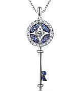 MaBelle玛贝尔蓝钻钥匙项链