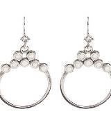 Evita Peroni 银色亮钻耳环