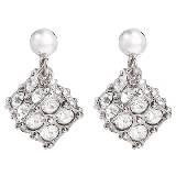 Evita Peroni 银色亮钻正方体耳环