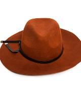 玛丝菲尔冬季系列 棕色宽檐帽