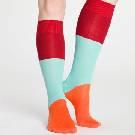 Marimekko 拼色条纹长袜
