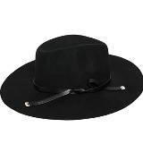 玛丝菲尔冬季系列 黑色宽檐帽