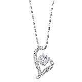 MaBelle玛贝尔钻石L型项链