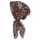 Evita Peroni 红色印花纱缎头巾