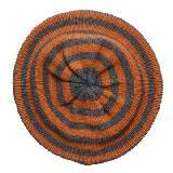 Marimekko 灰橘条纹毛线帽
