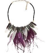 MARINA RINALDI2014春夏紫色羽毛项链