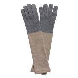 Marimekko 米灰拼色羊毛手套
