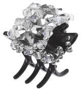 Evita Peroni 银色珠片发夹