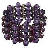 Evita Peroni 深紫色水晶手链
