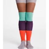 Marimekko 亮色拼色条纹裤袜