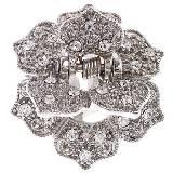 Evita Peroni 银色金属水晶碎钻发夹