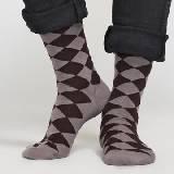 Marimekko 咖色格纹长袜