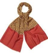 Marimekko 咖色波点围巾