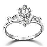 MaBelle玛贝尔皇冠镶钻石戒指