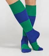 Marimekko 蓝绿色条纹长袜