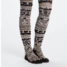 Marimekko 咖色民族图案长袜